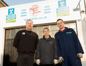 Bromley Vehicle Test Centre staff at the garage